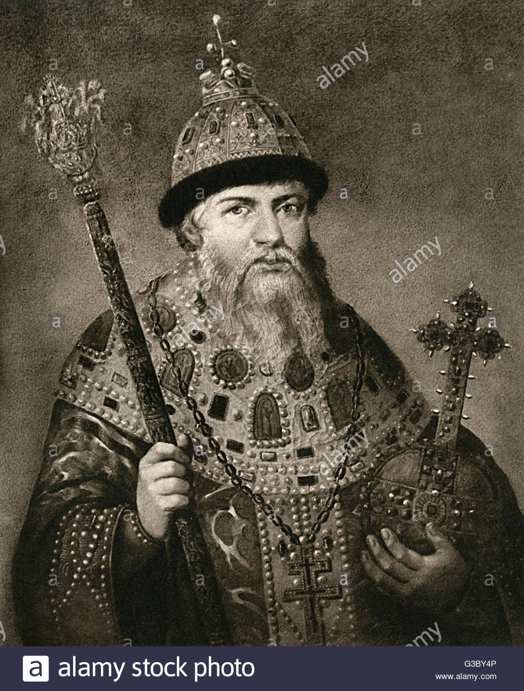 le-tsar-alexis-ier-de-russie-aleksey-mikhailovitch-1629-1676-regna-1645-1676-date-17e-siecle-g3by4p