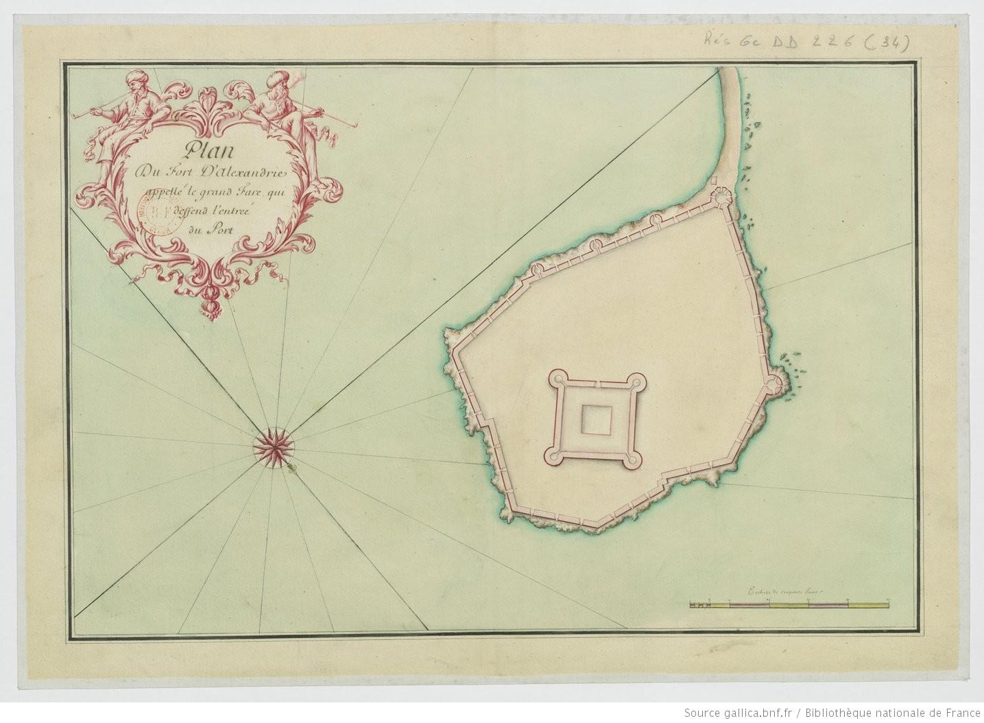 Plan_du_fort_d'Alexandrie_appellé_[...]Gravier_Étienne_btv1b55000013f_1